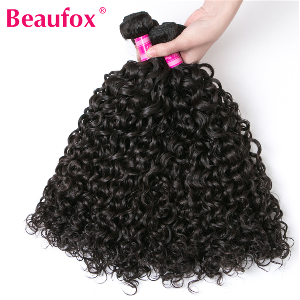 Beaufox Water Wave Brazilian Hair Weave Bundles 3 Bundles Human Hair Weave Natural Black ...