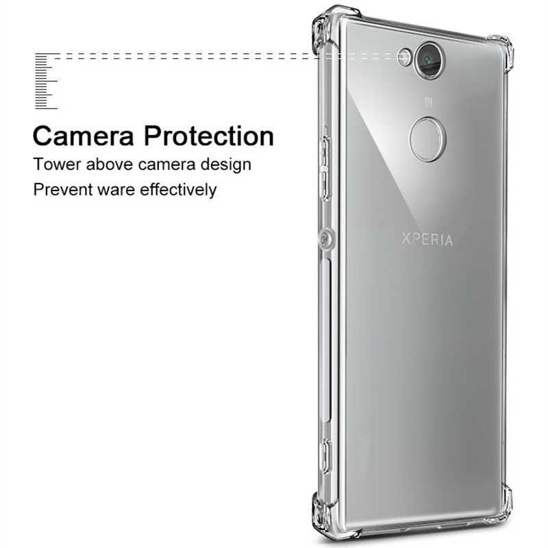 Ultra ברור רך עמיד הלם טלפון כיסוי עבור Sony Xperia 5 8 X XA XA1 XA2 XA3 Ultra 10 20 X1 XA2 בתוספת אוויר כרית סיליקון Case