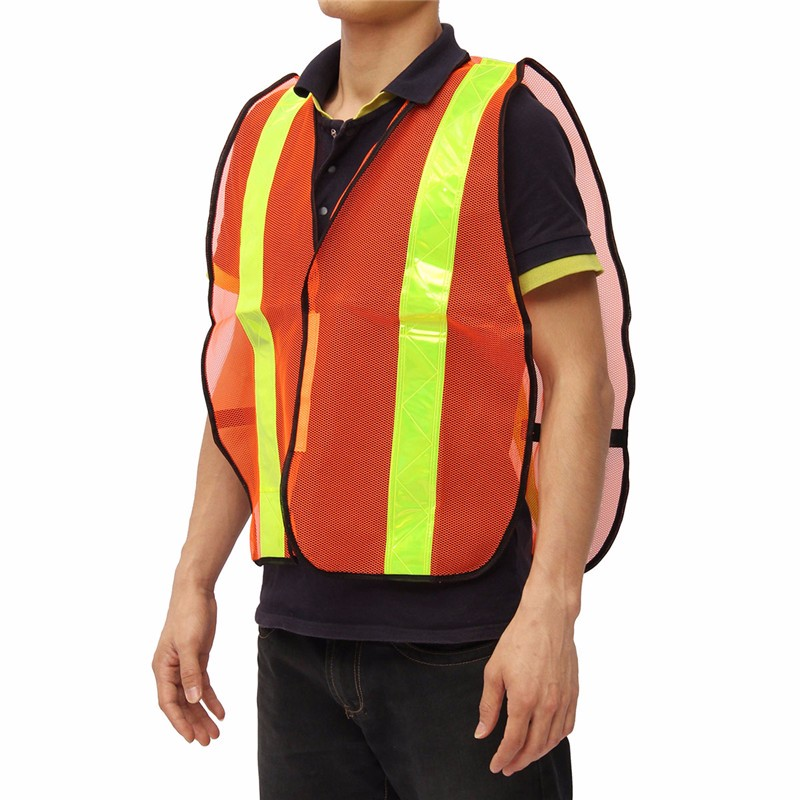 Reflective Vest Working Clothes Warning Safety Vest Provides High Visibility Day Night For Running Cycling Net breathable fabric reflective vest working clothes warning safety vest provides high visibility day night for running cycling net breathable fabric
