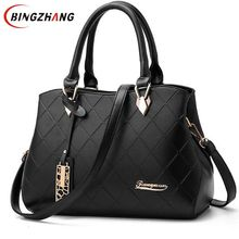 Fashion PU Leather Top-handle Women Handbag Solid Ladies Lether