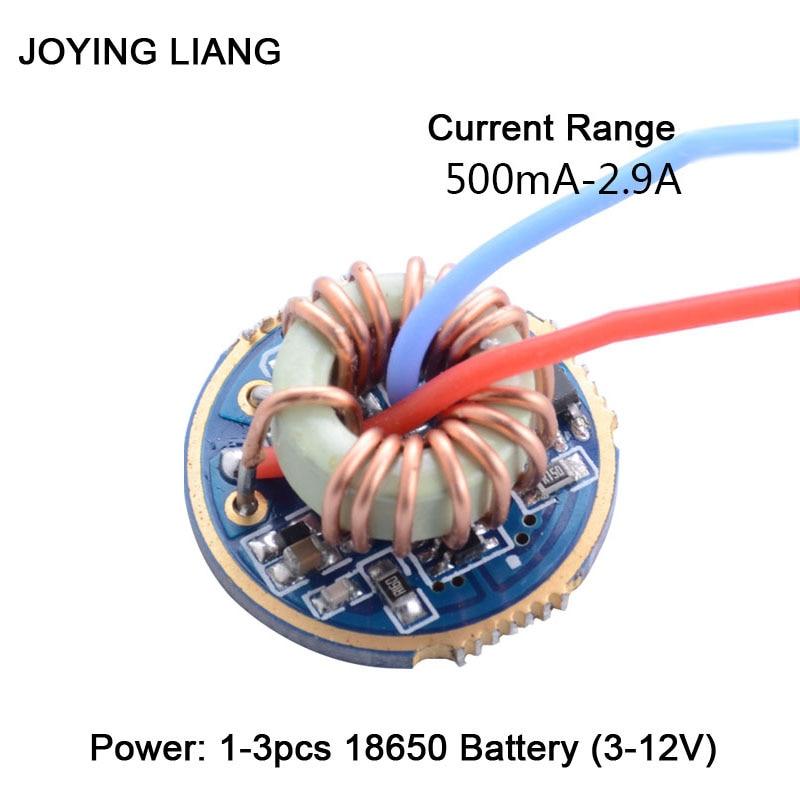 JYL-7801 lanterna 1-3 baterias de corrente constante universal t6/u2/l2 placa de circuito elétrico qx9920 22mm