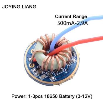 цена на JYL-7801 Flashlight 1-3 Batteries Universal Constant Current T6/U2/L2 Driver Board QX9920 22MM Electric Circuit Board