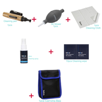 Professional Multifunctional Camera Lens Cleaning Kit Pen Cloth Wipes Spray Air Blower