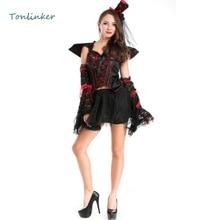 Halloween Evil Vampire Queen Cosplay Costumes Women Sexy Party Dresses Gown Performance Uniform