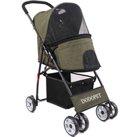 Kennel Ultralight Dog Stroller/Cat Puppy Travelling Carrier Cart Dog Walking/Shopping Stroller Folding Pet Buggy House 3 Colors