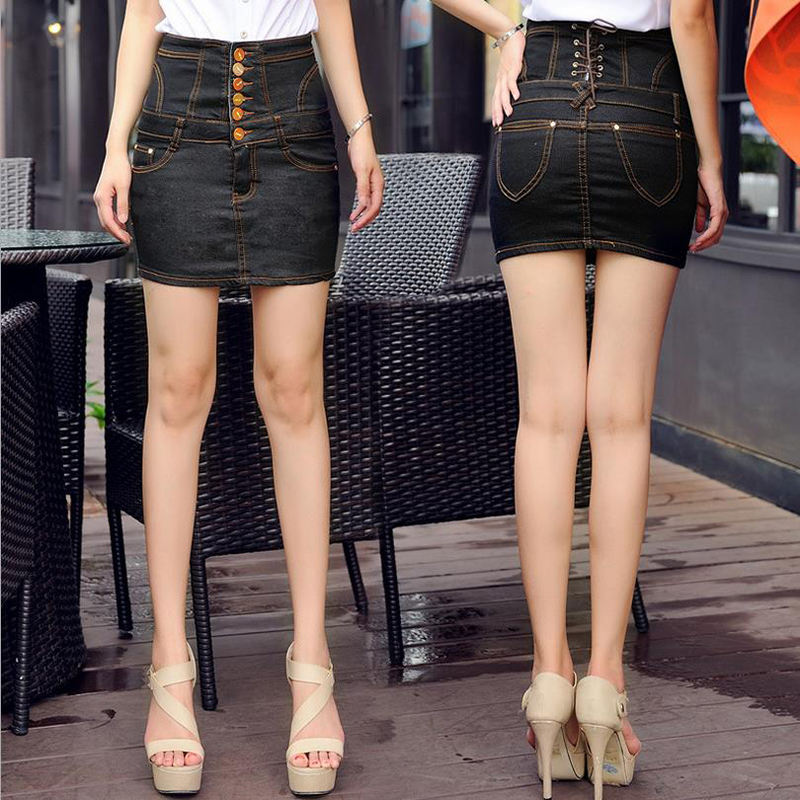 Jinsen Aite плюс размер S-4XL Высокая талия новые летние женские джинсовые юбки-карандаш обтягивающее по бедрам сексуальное узкие джинсы юбка винтажная юбка JS381