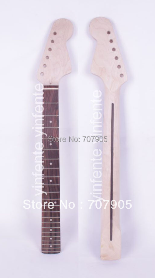 New ST Electric guitar neck Rosewood Fretboard 22 fret 25.5 Truss Rod Unfinished Free shipping Dropshipping Wholesale 1 pcs 2 holes aluminum alloy guitar truss rod cover bell shape fits for epiphone les paul lp for electric guitar replacement part new