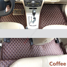 For Audi A7 4G 2012-2014, 2015 2016  Accessories Interior Leather Carpets Cover Car Foot Mat Floor Pad 1set
