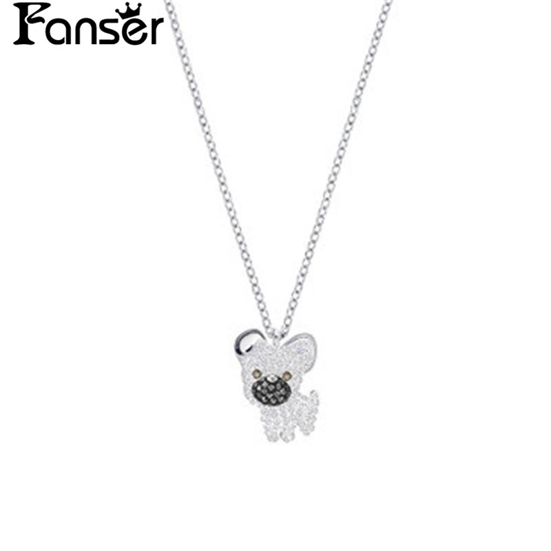 FANSER Animal Series Pendant Necklace SWAROVSK Official 1:1 Has The Logo Ladys Link chain Fine Jewellery Free Package Mail