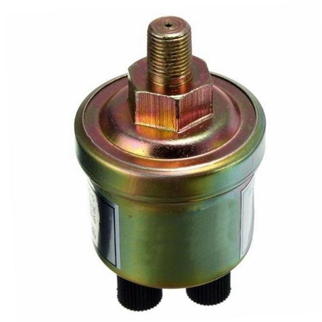 VODOOL 1/8 NPT 80x40mm Engine Oil Pressure Sensor Gauge Sender Switch Sending Unit 0-1.0Mpa Car Pressure Sensors