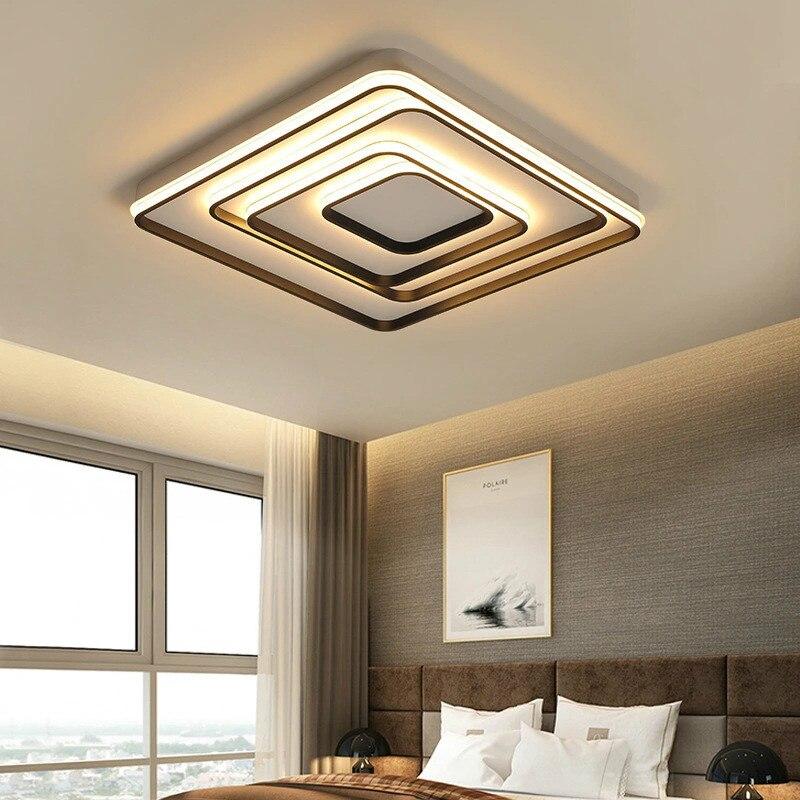 Nordique simple LED en aluminium plafonnier salon chambre carré atmosphère maison décoration lampes de ménage ZP5141009