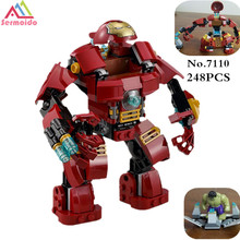 sermoido 7110 Compatible With 76031 Marvel Super Heroes Avengers Building Blocks Ultron Figures Iron Man Hulk Bricks Toys DBP168 цена
