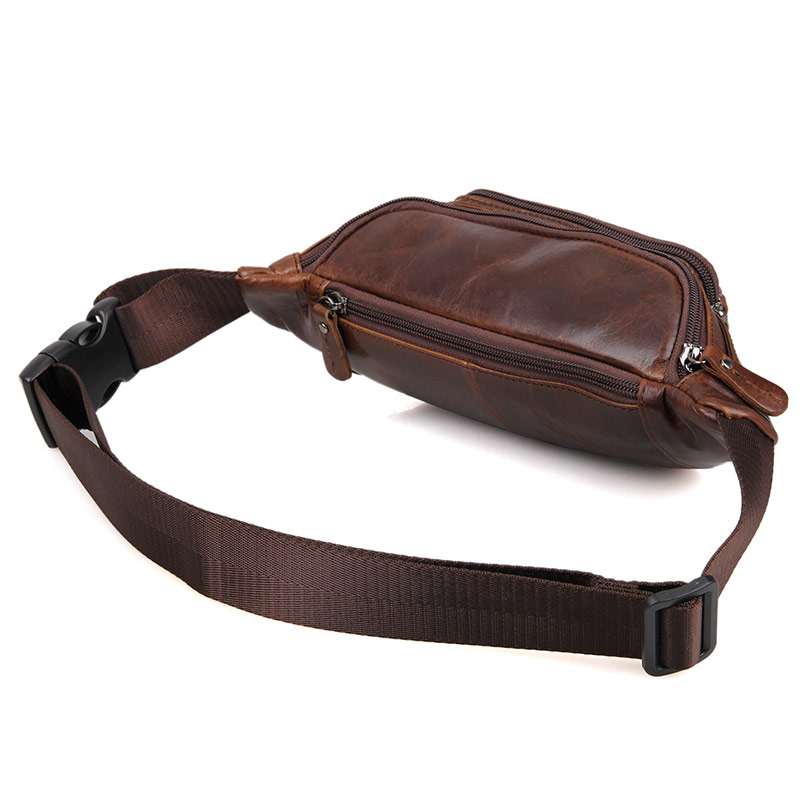 Men Travel Waist Bags Genuine Leather Man Brand Vintage Casual Waist Packs Purse Belt Bags 2018 Male LuxuryPhone Designer Bag in Waist Packs from Luggage Bags