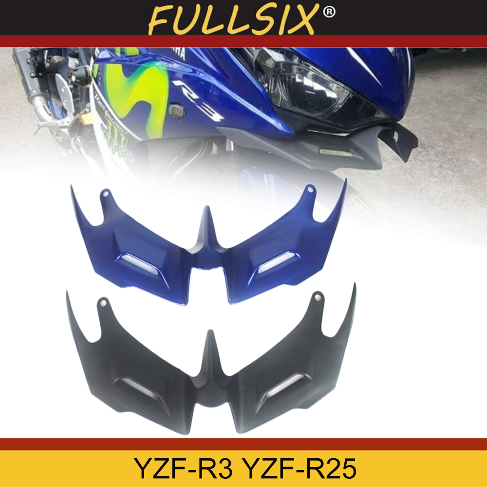 FOR YAMAHA YZF R3 YZF R25 2014 2019 Motorcycle Front Fairing Aerodynamic Winglets ABS Plastic Cover