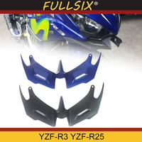 FOR YAMAHA YZF R3 YZF R25 2014 2019 Motorcycle Front Fairing Aerodynamic Winglets ABS Plastic Cover Protection Guards