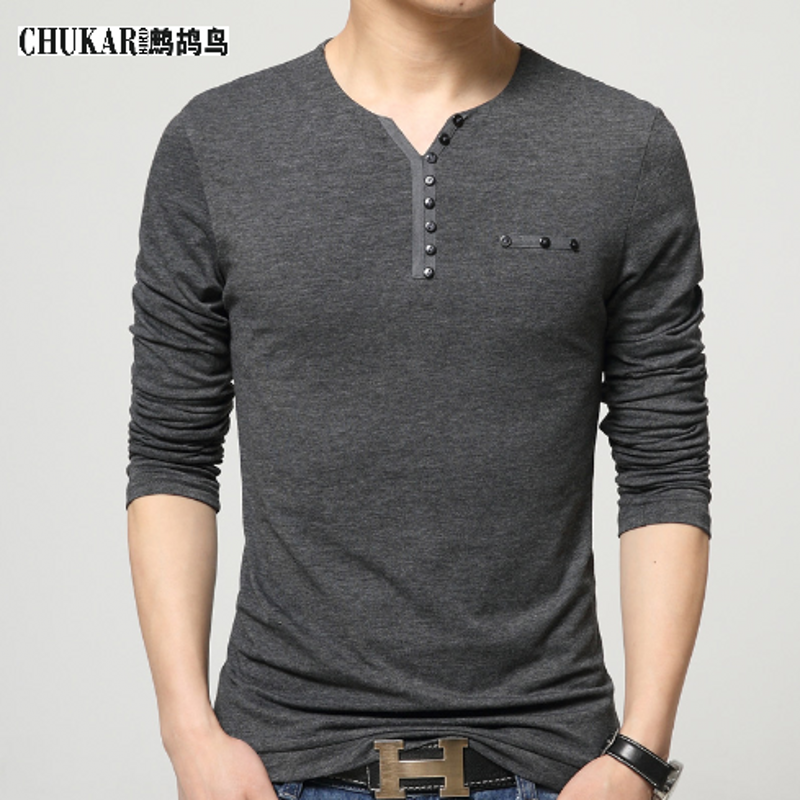 Hot sale t shirt men brand fashion men 39 s stitching design for Mens long sleeve t shirts sale