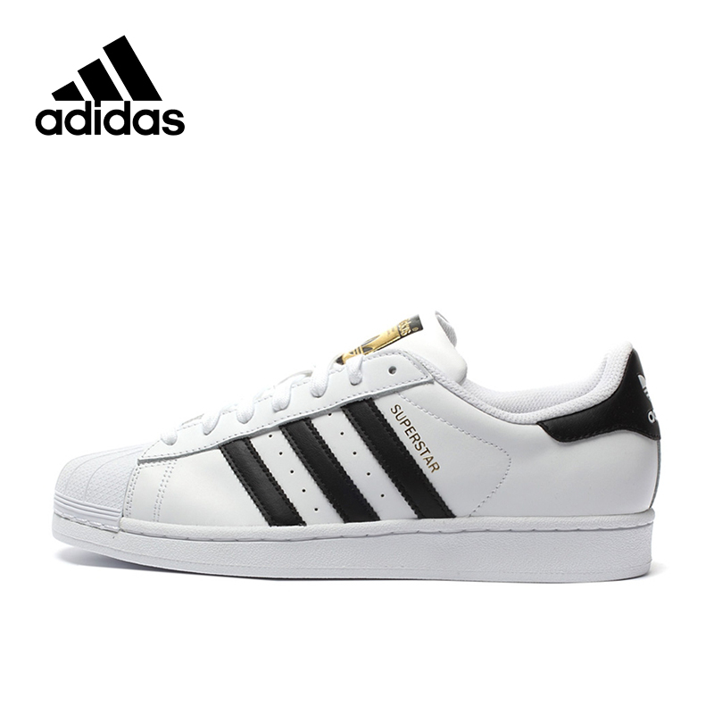 Adidas Authentic New Arrival Originals Superstar Classics Unisex Men's & Women's Breathable Skateboarding Shoes Sneakers C77124 adidas x pharrell little kids superstar supercolor