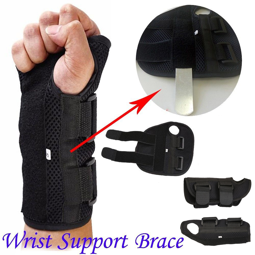 2018 New Hot Carpal Tunnel Medical Wrist Support Brace Support Pads Sprain Forearm Splint Band Strap Protector Safe Size SML ...