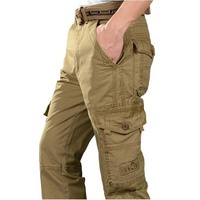 2016 New Fashion Outdoor Casual Pant Cotton Mens Cargo Pants Losse Baggy Pants Overalls Overall Man