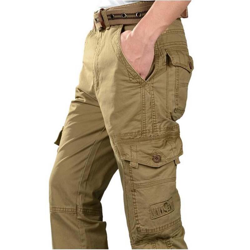 2017 nuevos pantalones casuales de algodón para hombre, pantalones holgados, Overol para hombre, pantalones de talla grande para hombre fondo
