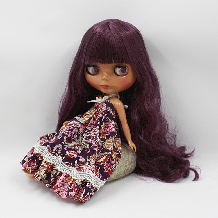 factory blyth Doll 280BL135 Doll modena hair dark normal body purple hair 1/6 30cm