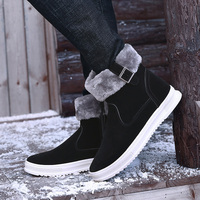 New Arrival Fashion Winter Men's Boots Wear Resistant Handmade Ankle Boots Warm Working Boot Zipper Men Casual Shoes size 39 44