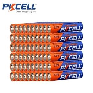 Image 1 - 60 X PKCELL LR03 1,5 V Batterie AAA Alkaline Dry Batterie E92 AM4 MN2400 MX2400 1,5 Volt 3A Batteria für elektronische thermometer