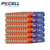 60 X PKCELL LR03 1.5V 배터리 AAA 알카라인 건전지 E92 AM4 MN2400 MX2400 1.5 볼트 3A 전자 온도계 용 Batteria
