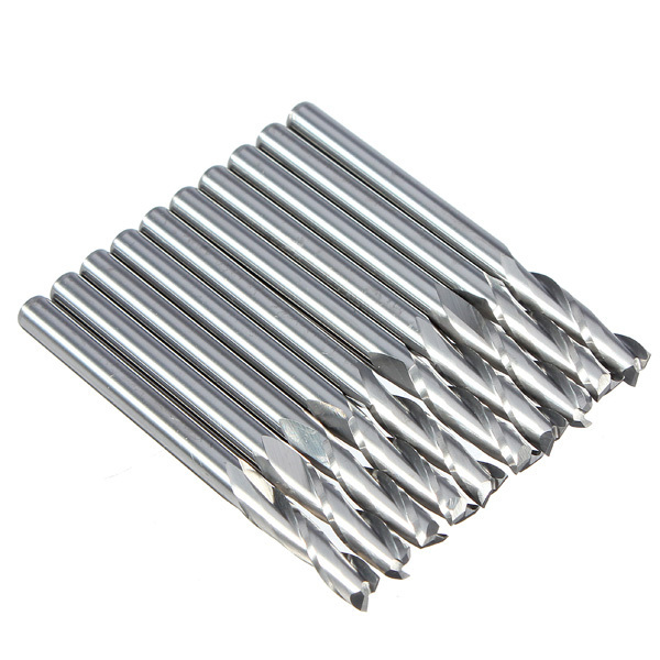 2 Sets/lot _ 3.175 Mm 12mm Cel Flute Carbide End Mills Router Bit 5pcs 4 0 mm 4mm 2 flute carbide spiral end mills router bit 22mm cel