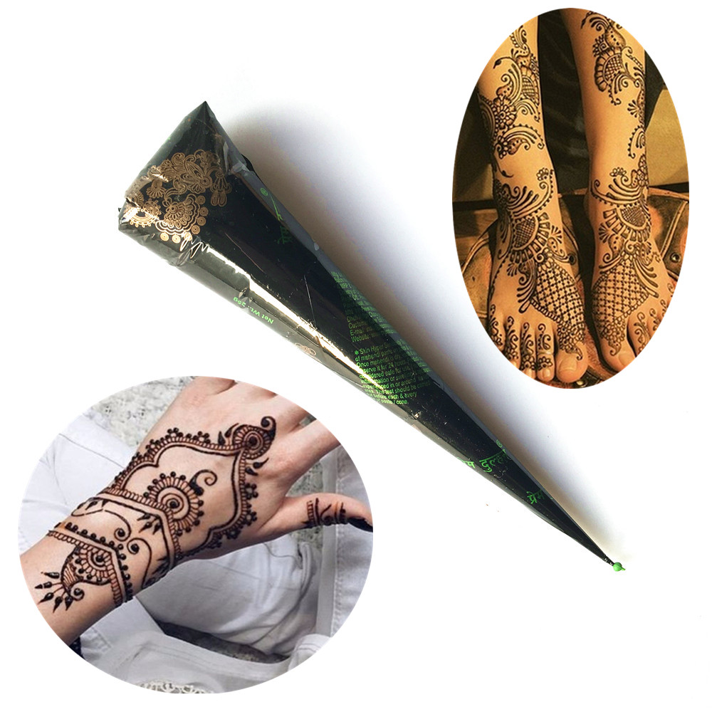 Henna Tattoo Color Brown: HOT Henna Waterproof Tattoo Cones Brown Color Women Body