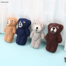 NoEnName-Null Newborn Photography Props Accessories Felt Knit Teddy Bear Infant Handmade Toy cheap NoEnName_Null CN(Origin) Wool Fitted Unisex Solid baby 0-3 months 10-12 months 4-6 months 7-9 months Toy Doll Coffee Brown Dark Blue Gray