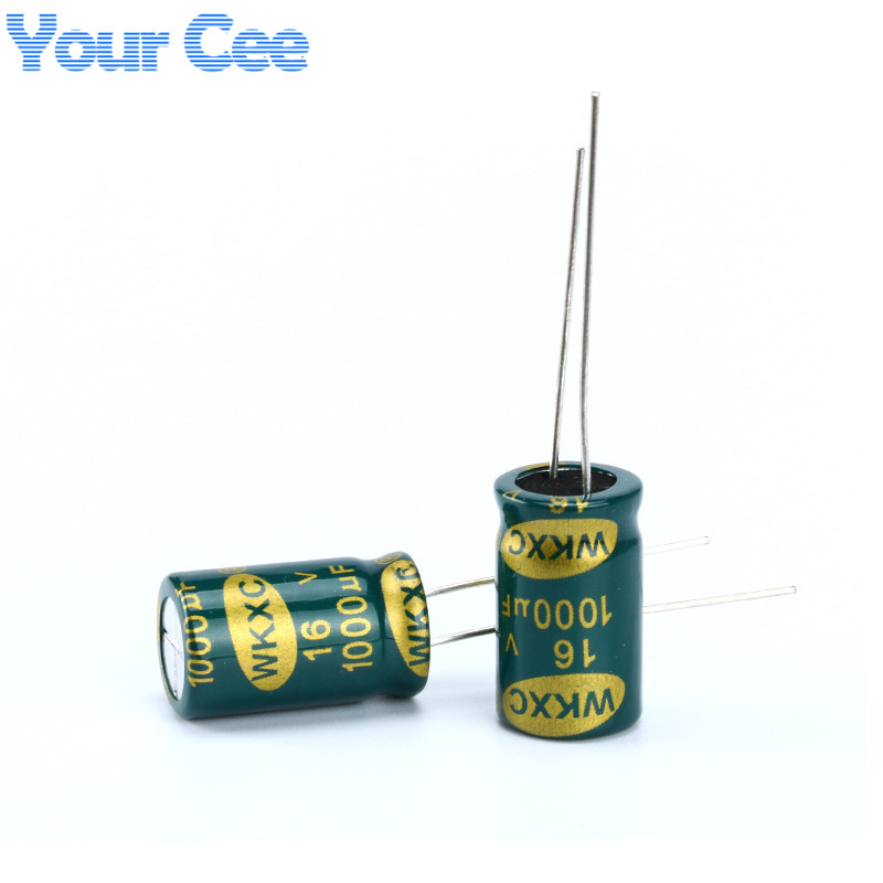 20 pcs Electrolytic <font><b>Capacitors</b></font> High Frequency <font><b>16V</b></font> <font><b>1000UF</b></font> 10X17MM Aluminum Electrolytic <font><b>Capacitor</b></font> image