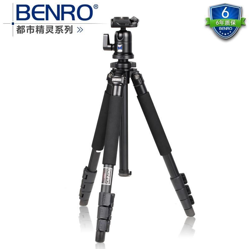 Gopro Benro a550fbh1 liga de Magnésio tripé espírito Urbano cabeça Leve E portátil tripé BH conjunto tripé de câmera frete grátis