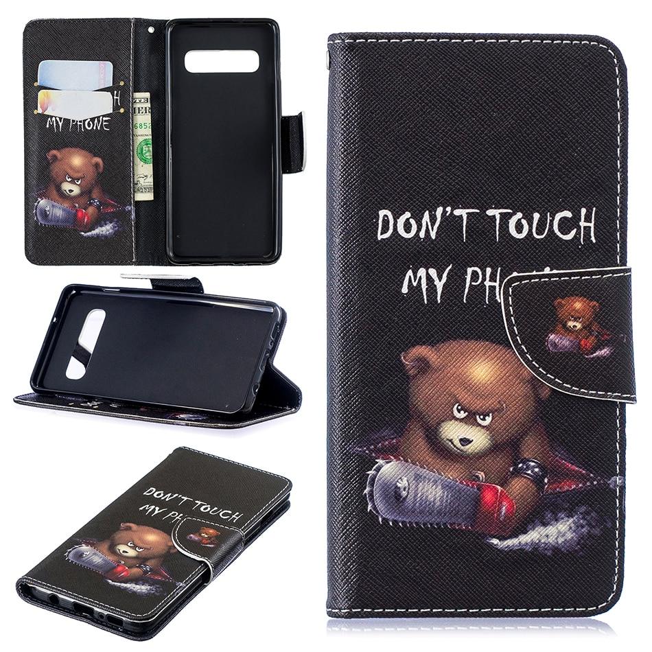 Card Slot Wallet Flip Case For Samsung Galaxy S10 E S9 S8 Plus S7 S6 Edge S5 S4 S3 J4 J6 A6 A7 A8 2018 A530 A750 Cover B116