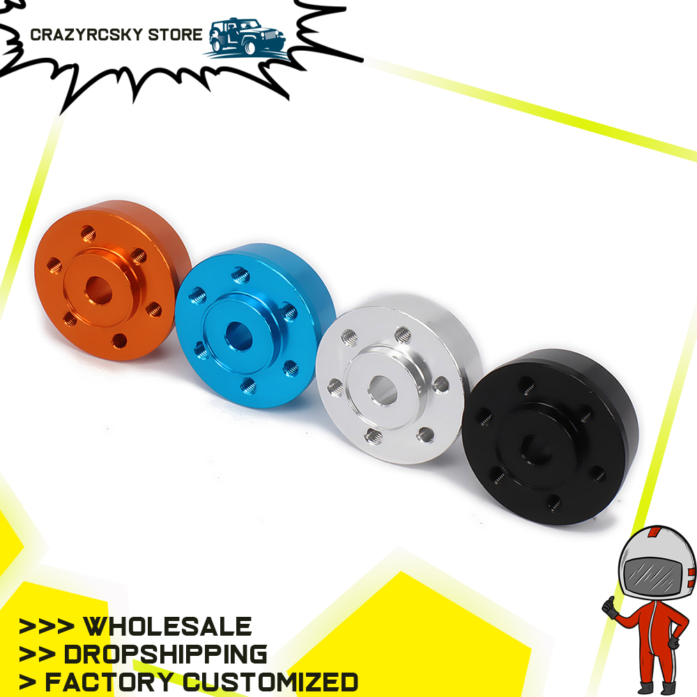 RCAWD 2PCS <font><b>2.2</b></font> Frontale In Alluminio <font><b>Wheel</b></font> Hex <font><b>Hub</b></font> Adapter Axial Yeti Rock Racer Ax90026 Buggy Crawler Aggiornato Parti image