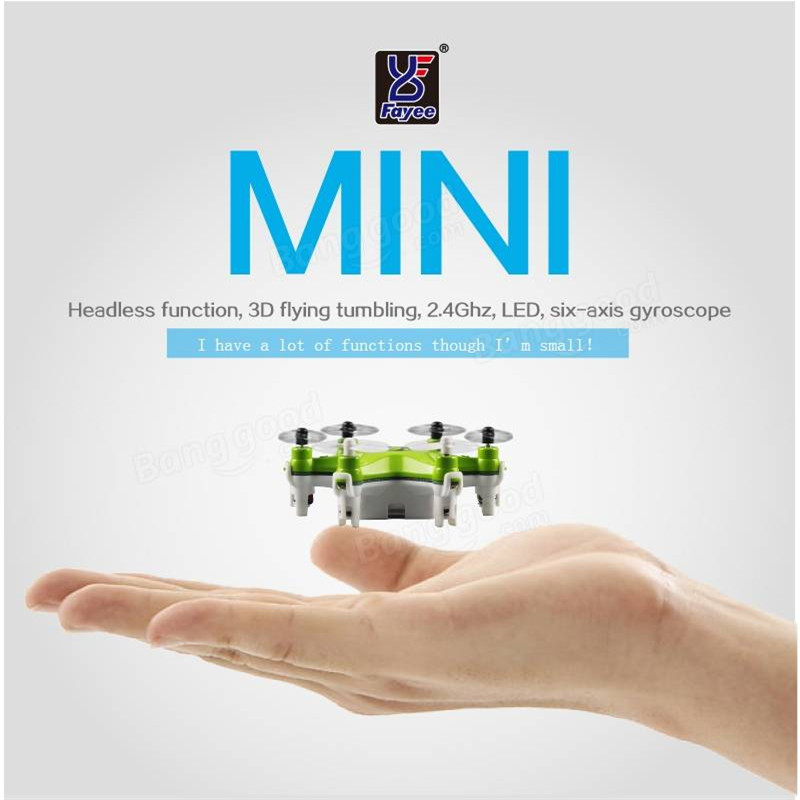 Fayee FY805 Smallest Headless Mode 2.4G 4CH 6Axis LED RC Quadcopter Helicopter Drones RTF Mode 2