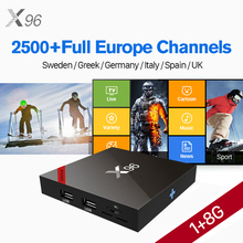 X96W Europe IPTV Box Android 7.1 S905W Quad Core Receiver IUDTV IP TV Germany UK Italy Spain Sweden Nordic Greek