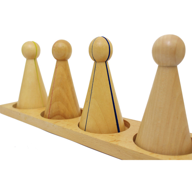 Wooden Fraction Puzzle Toy Set