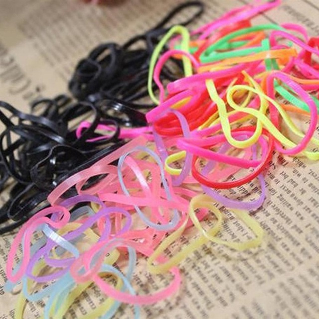 Colourful Trendy Rubber Band Women Girls Elastic Hair Band Ties Plaits Rope Fashion Hair Accessories In Stock
