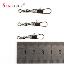 20pcs Connector Lure Seamline Character Ring Stainless Steel Fishing Supplies Small Accessories Barrel Swivel with Interlock