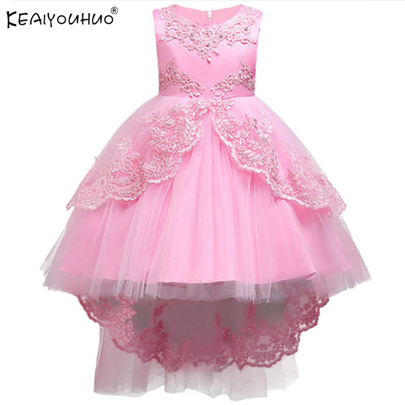 Kids Dresses For Girls Princess Dress 2018 High Quality Sleeveless Summer Wedding Dress Party Performing Dress For Girls Clothes