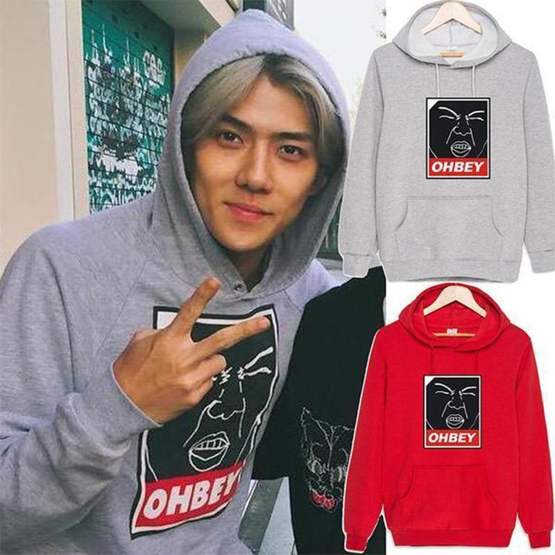 Hot Sale 2017 New Arrival Star Exo Products Sehun Baekhyun Lay Kai Chen Suit Long Sleeve Hoody Outerwears Sweatershirt Hoodies & Sweatshirts