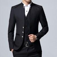 Men's Suit 3 Piece Set, Slim fit Men Suit Jackets + Pants + Vests, Wedding Banquet Male Blazer Coats Szie M 4XL