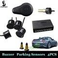 Новый автомобиль датчики парковки парктроники 4 датчик парковки высокое качество 13 мм / 22 мм датчики обратный резервный радиолокатор звук звуковой сигнал
