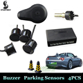 New Car Parking Sensors  Parktronics 4 Sensor Parking High Quality 13mm/22mm Sensors Reverse Backup Radar Sound Buzzer Alarm