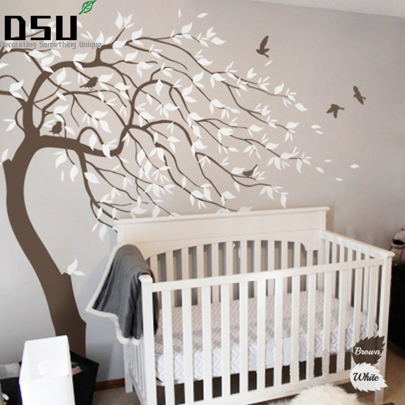 Huge White Tree Wall Decal Sticker Wall Decals Nursery Tree Wall Stickers For Kids Rooms Wall Tattoo Gift WallpaperHuge White Tree Wall Decal Sticker Wall Decals Nursery Tree Wall Stickers For Kids Rooms Wall Tattoo Gift Wallpaper