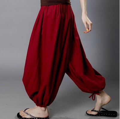 NEW FASHION men and women's casual   wide     leg     pants  ,plus size trousers,  pants  ,cotton bloomers,dancing   pants