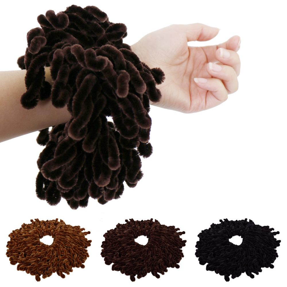 Muslim Women  Twist Scrunchie Elastic Hair Ring Hijab Scarf Headwear Hairbands Band Stretch Turban Head Wrap Bandana Accessories
