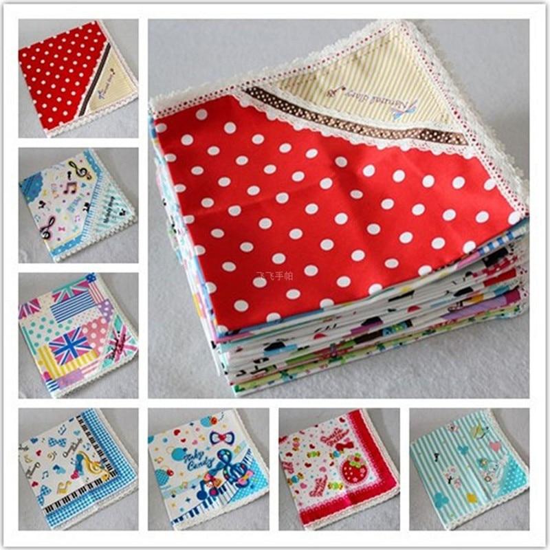 Children's Handkerchief Cotton 100% Lace Handcuffs Placemat Pocket Towel Handcuffs Child Handkerchiefs 3Pcs/Lot 46CM