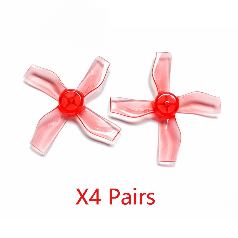 GEMFAN <font><b>1220</b></font> 1.2x2x4 31mm 0.8mm Hole 4-blade Propeller PC CW CCW Props for 0703-1103 RC Drone FPV Racing Brushless <font><b>Motor</b></font> image
